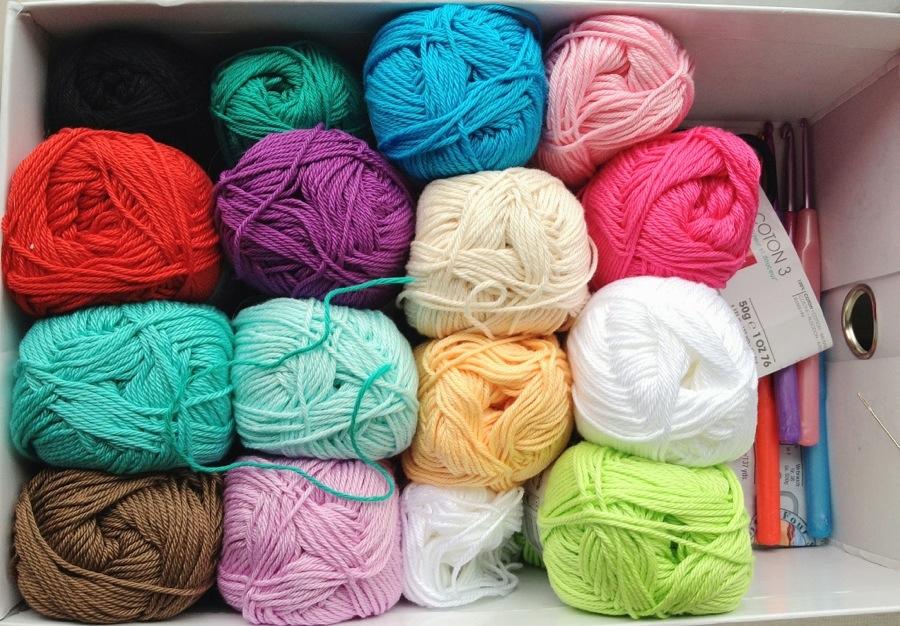 My yarn collection so far.
